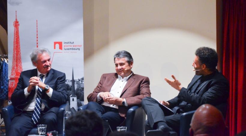 Jean Asselborn, Siegmar Gabriel, Dhiraj Sabharwal
