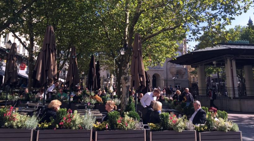 Besonnesch d'Stad an d'Restaurante si bei den Touriste beléift. Foto: Ville de Luxembourg