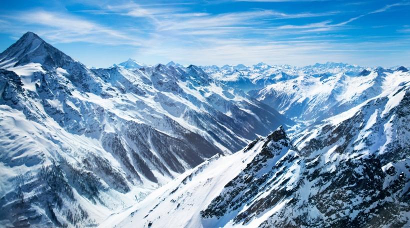 Gletscher an den Alpen