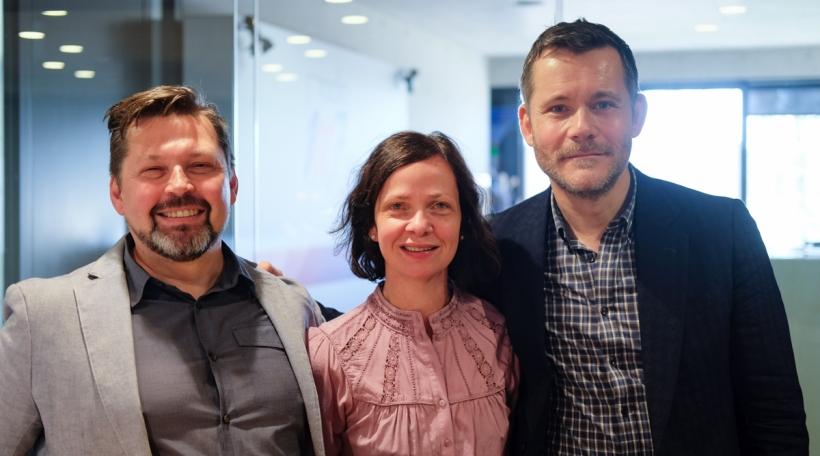 Bernard Baumgarten, Myriam Muller an Tom Leick