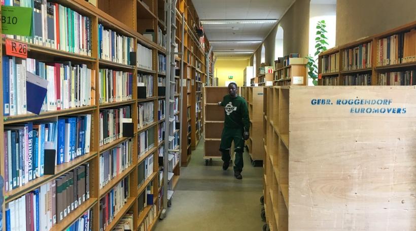 Déi al Nationalbibliothéik gëtt ausgeraumt