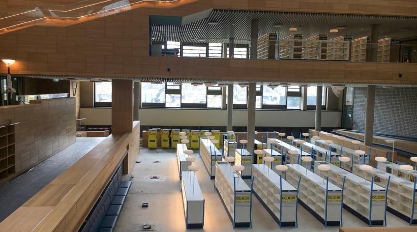 Déi nei Nationalbibliothéik erstreckt sech iwwer dräi Stäck