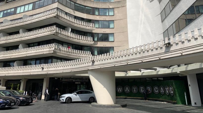 D'Entrée vum Watergate Hotel