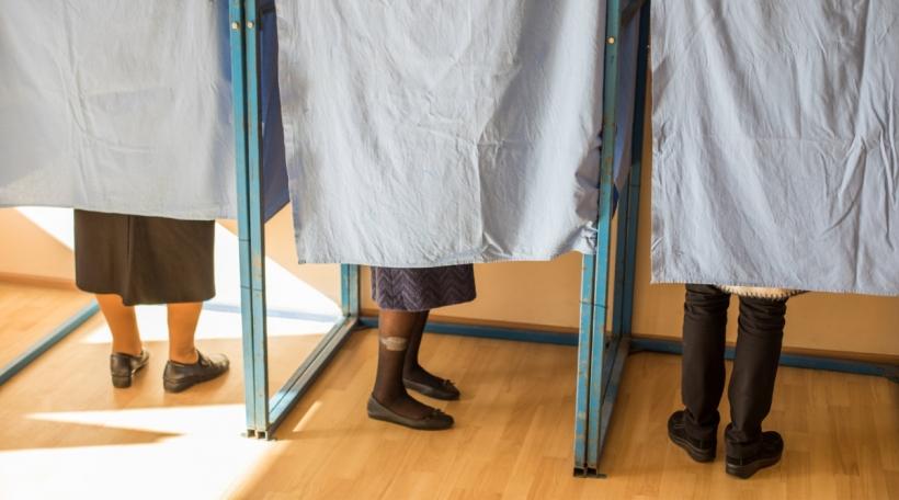 Leit an der Wahlkabinn