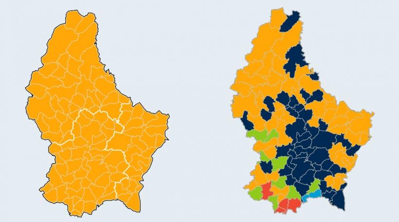 Verglach Europawahlen 2014 an 2019