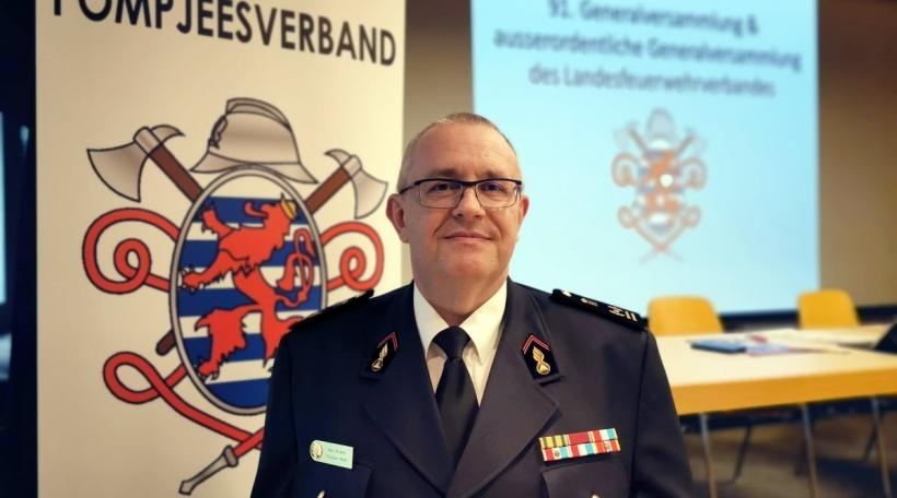 Marc Mamer, President vum Pompjeesverband