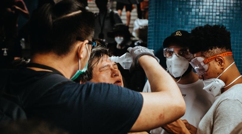 Protester zu Hongkong