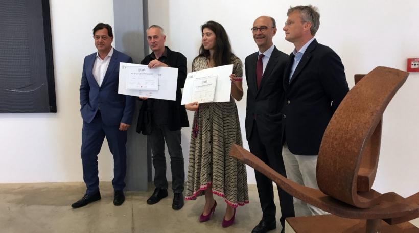 Bertrand Ney a Sophie Medawar mam Prix de la sculpture an der Mëtt