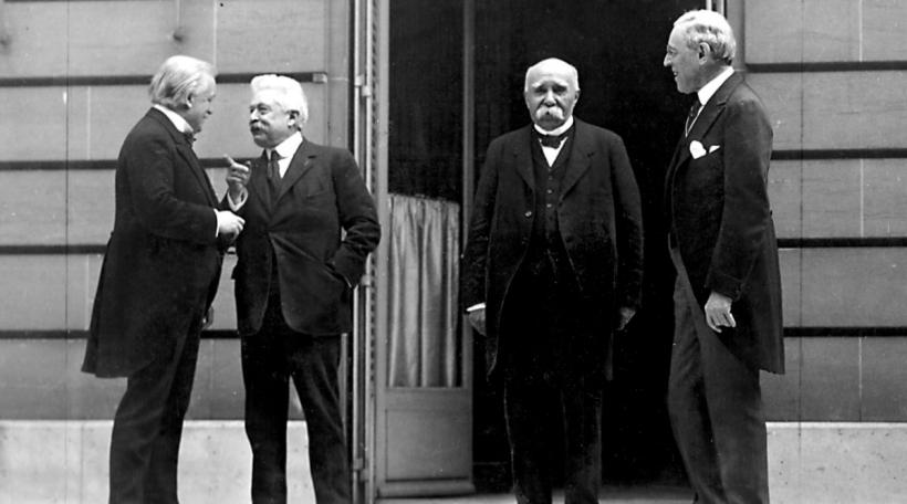 Den David Lloyd George, de Vittorio Emanuele Orlando, de Georges Clemenceau an de Woodrow Wilson