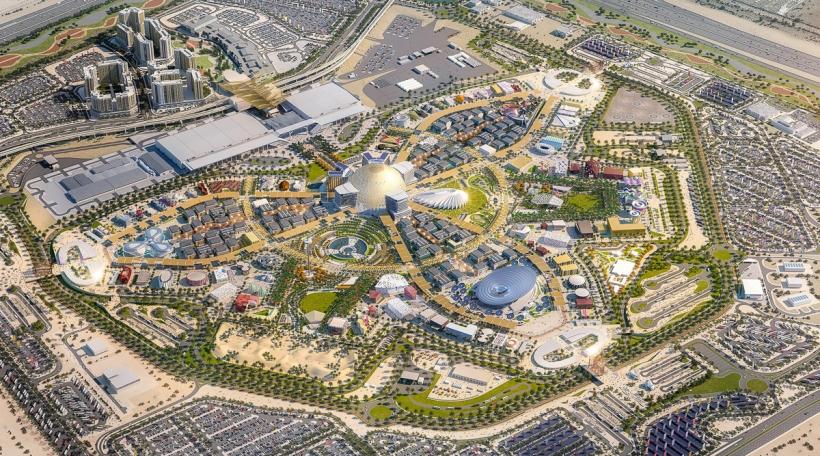 Vue aus der Loft op de Site vun der Weltausstellung (Foto:Visuel: Expo 2020 Dubai)