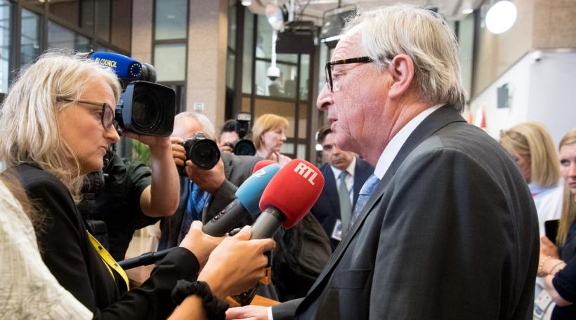 Jean-Claude Juncker an Danièle Weber um EU Sommet Juli 2019