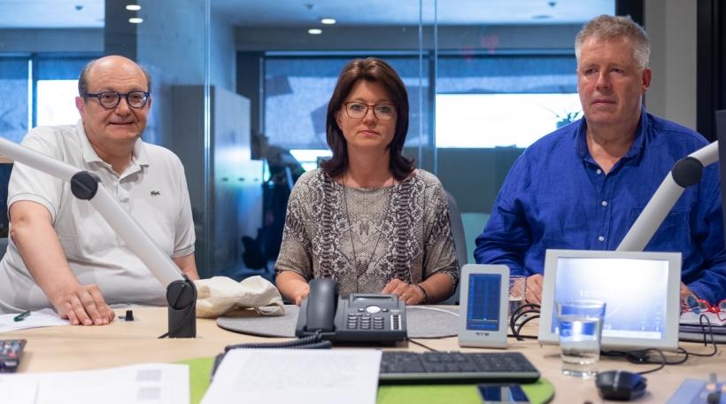 Den Dr. Romain Stein, d'Christine Dahm an de Jean-Jacques Schonkert