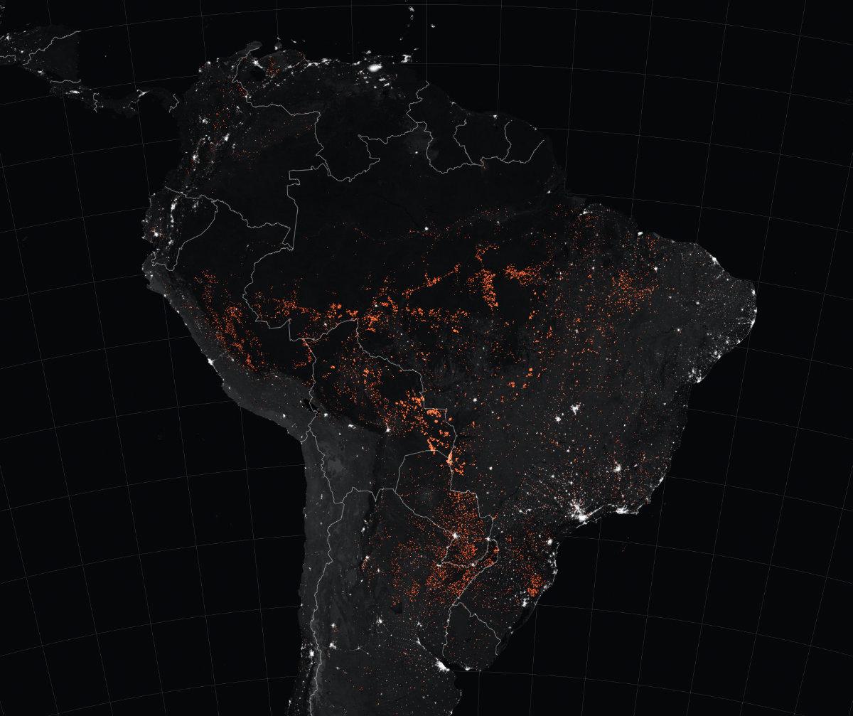 Bëschbränn a Latäinamerika (15. bis 22. August 2019) Foto: NASA