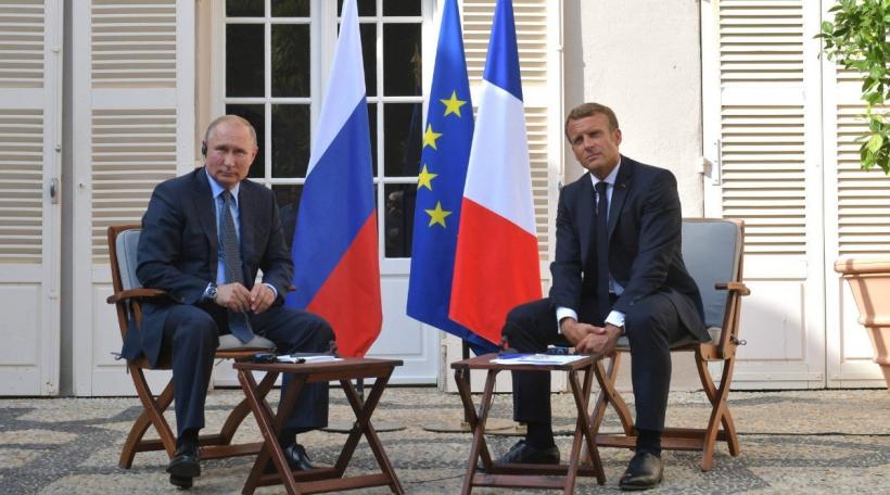 De Vladimir Putin an den Emmanuel Macron
