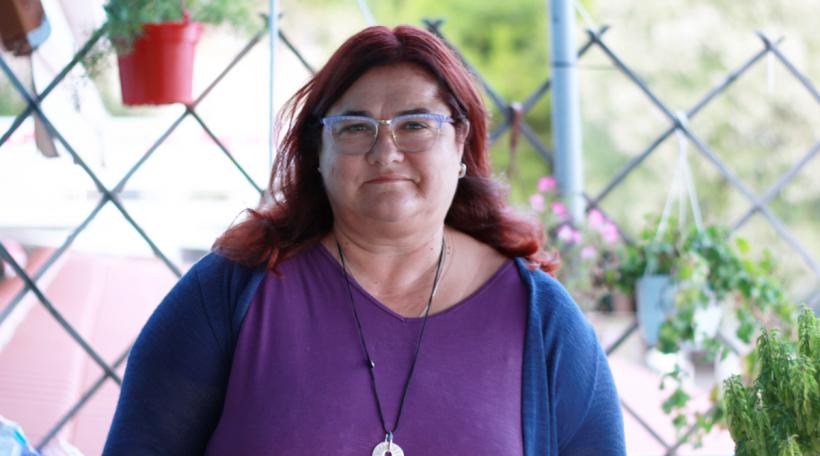 D'Eleni Tounta schafft fir d'Organisatioun MOm zu Alonissos