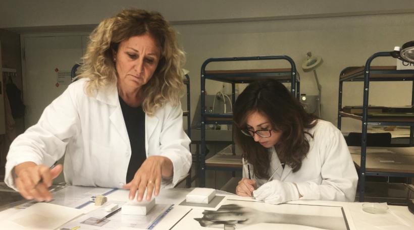 D'Konschtrestauratrice Silvia Berselli a Francesca Vantellini