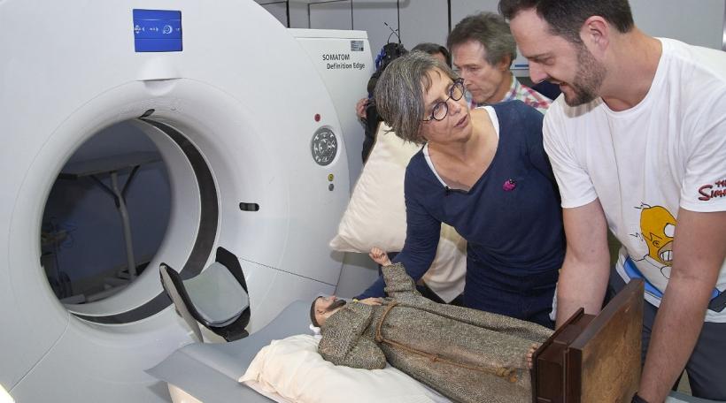De Franz vun Assisi, d'Muriel Prieur, de Claude Scholtes virum Scan. Foto MNHA.jpg