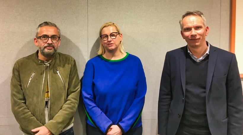 RER-Pressehëllef-Mike Koedinger, Josée hansen, Jean-Lou Siweck