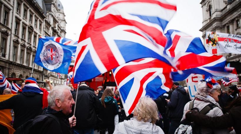 Des Brexiters sur la rue à Londres le 31 janvier