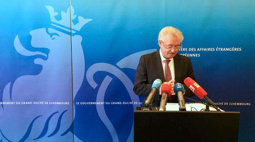 Jean Asselborn Pressekonferenz iwwer Immigratioun