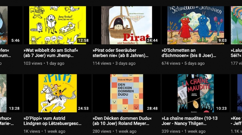 De CNL-YouTube-Channel fir Literatur