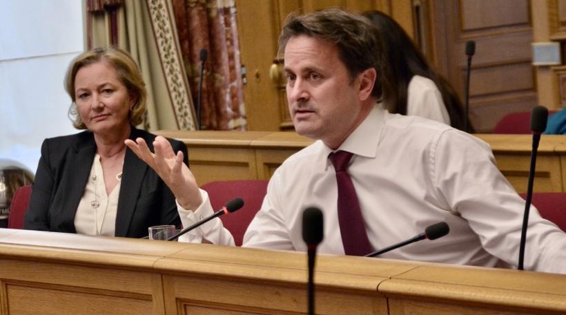 Paulette Lenert, Xavier Bettel an der Chamber (15.04.2020)