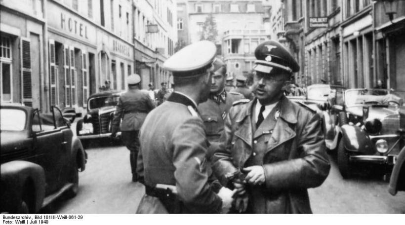 Luxemburg, Himmler mit Offizier der Waffen-SS