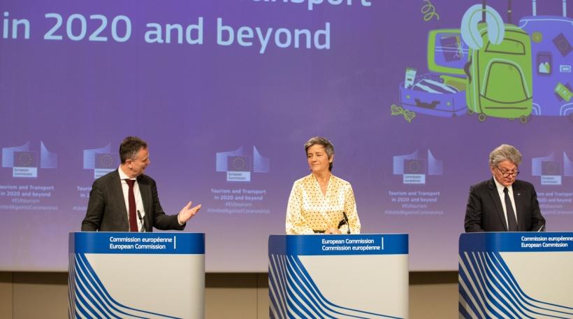 Eric Mamer, Margrethe Vestager, Thierry Breton