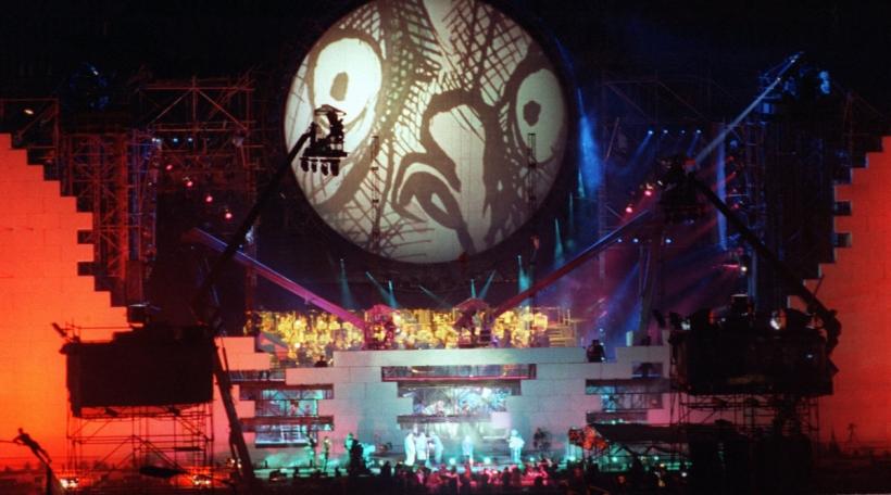 Pink Floyd op engem Concert am Joer 1990