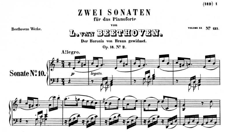 Beethoven Sonat Op. 14 Nr. 2