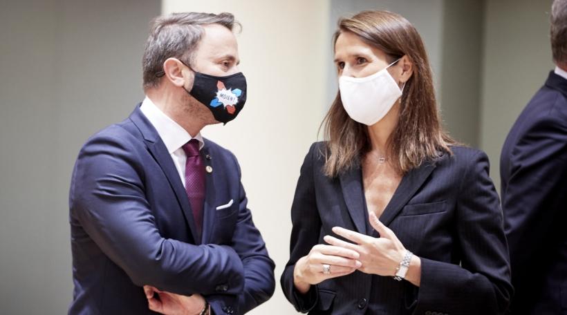 De Lëtzebuerger Staatsminister Xavier Bettel an déi belsch Premierministerin Sophie Wilmes.