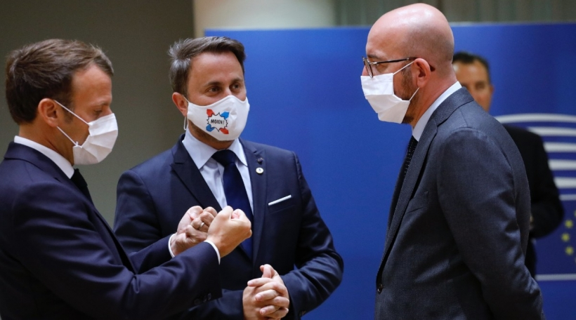 Emmanuel Macron, Xavier Bettel, Charles Michel