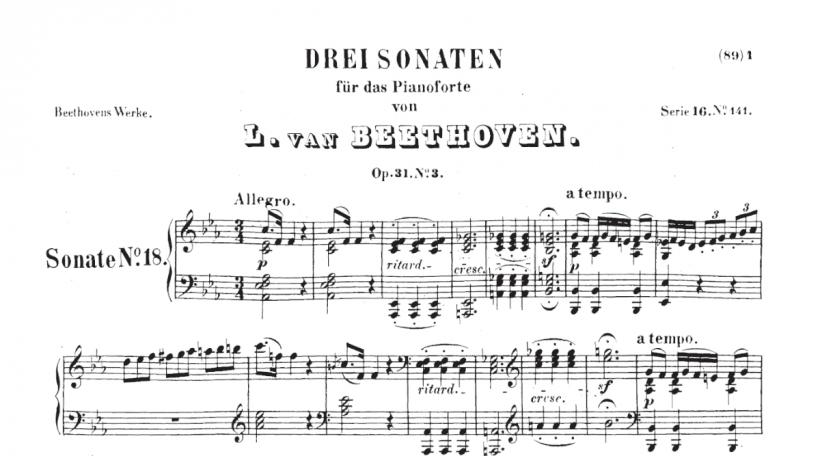 Beethoven Op 31 Nr 3
