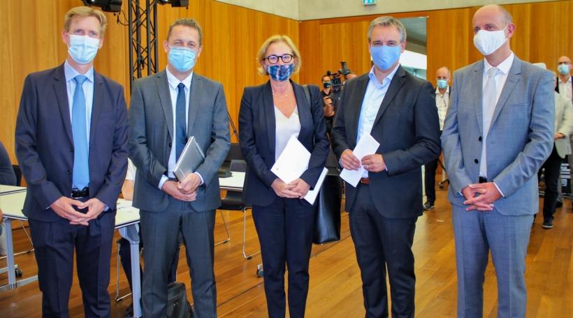 Dr Gregor Baertz, Ulf Nehrbass, Paulette Lenert, Claude Meisch, Prof. Paul Wilmes