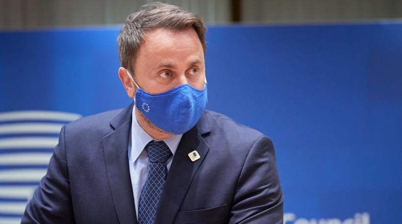 De Xavier Bettel um Bord vum EU-Sommet
