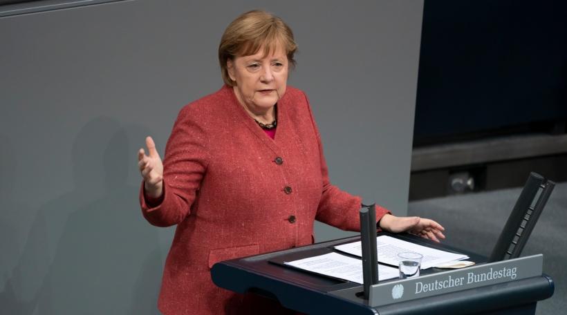 Déi däitsch Bundeskanzlerin Angela Merkel