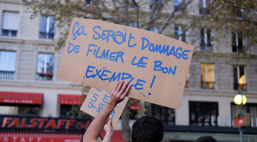 Protester a Frankräich am November