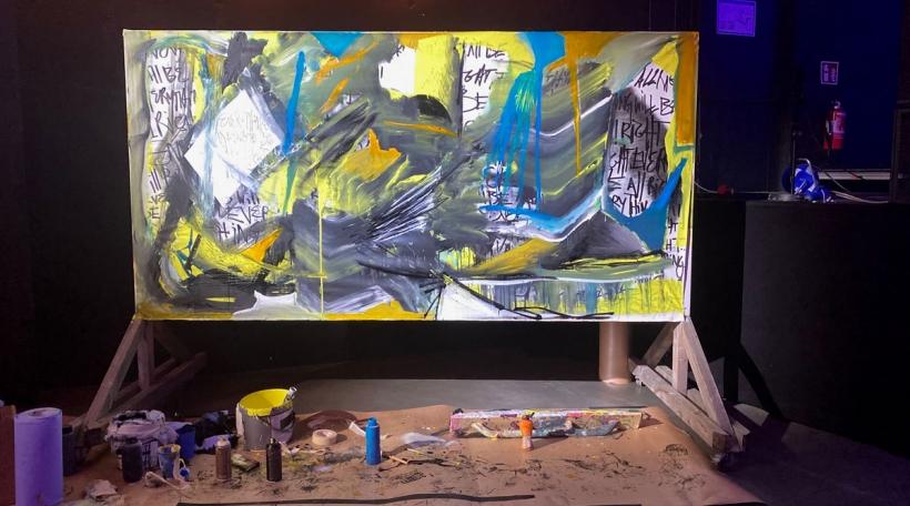 Live Painting bei Aircheck Session vum Eric Mangen