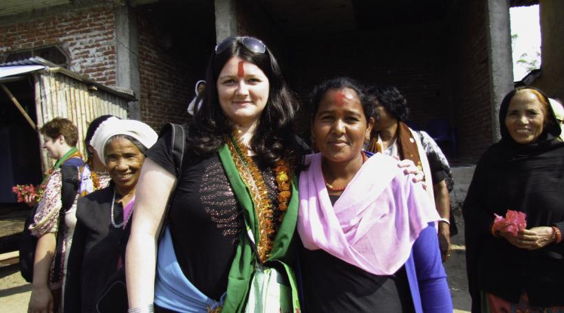 """D'Françoise Binsfeld Direktesch vun der ONG """"Aide à l'Enfance de l'Inde"""""""