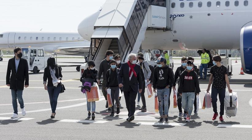 Accueil des mineurs par Jean Asselborn, ministre des Affaires étrangères et européennes, ministre de l'Immigration et de l'Asile