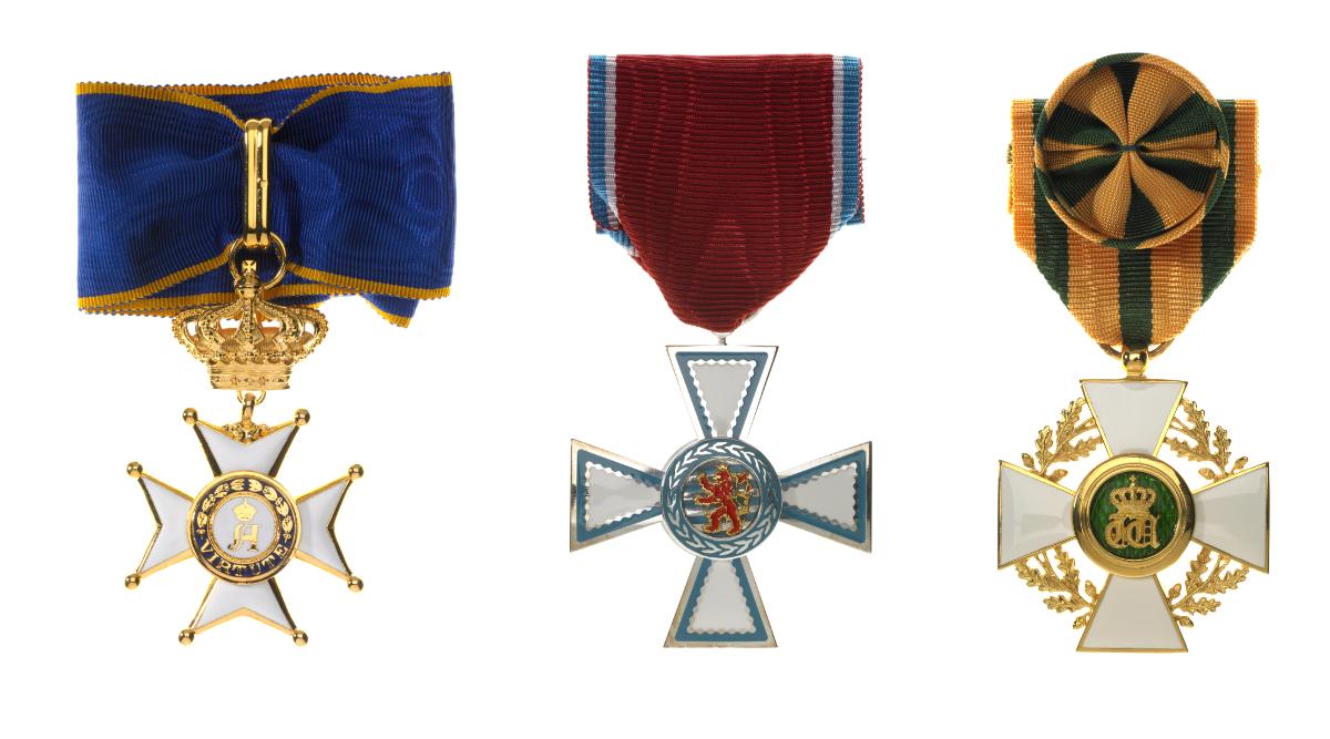 Ordre de Mérite civil et militaire d'Adolphe de Nassau - Ordre de Mérite du Grand-Duché de Luxembourg - Ordre de la Couronne de chêne © SIP / Christof Weber