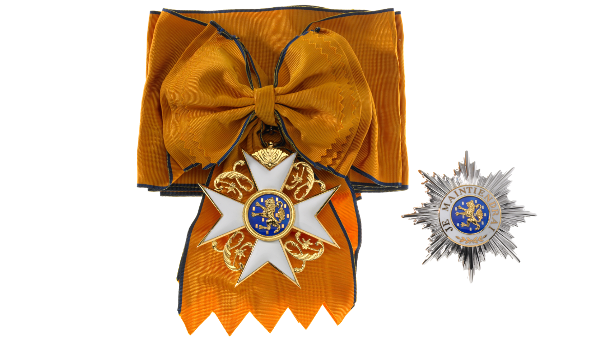L'ordre du Lion d'or de la maison de Nassau - Bijou, avers et Plaque © SIP / Christof Weber