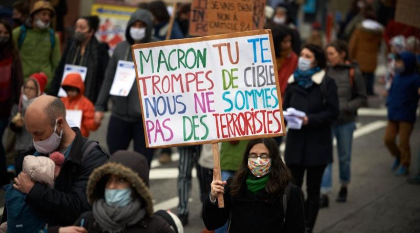 Demonstratioun Loi Séparatisme