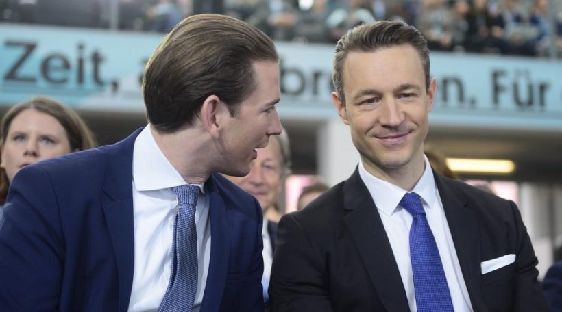 De Bundeskanzler Sebastian Kurz an de Finanzminister Gernot Blümel