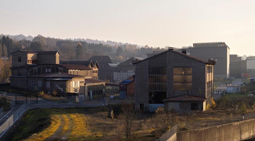 Site vum fréiere Walzwierk zu Diddeleng