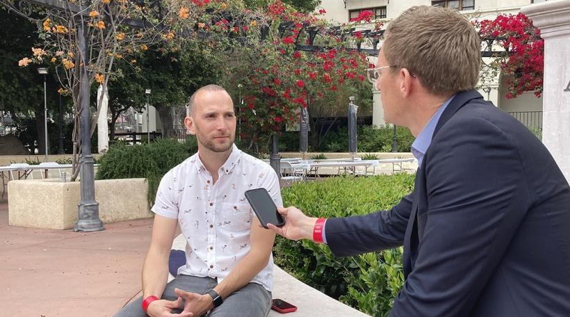 Interview zu L.A. mam Bernard Michaux