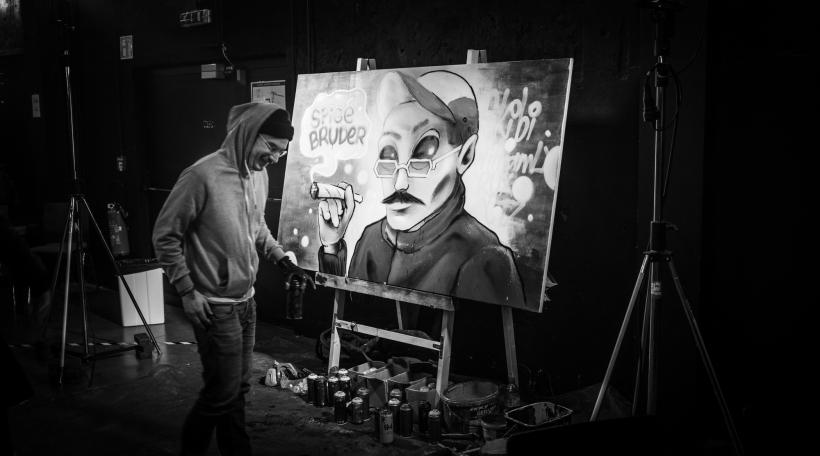 Live Graffiti vum Alain Welter