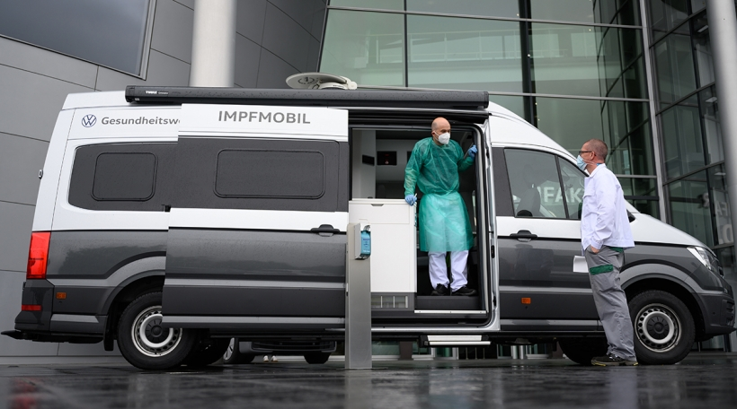 Mobil Impfungende 7.Juli zu Wolfsburg