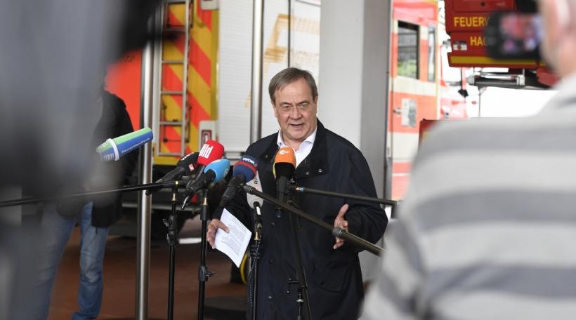 Armin Laschet (CDU) bei de Pompjeeë vun Hagen